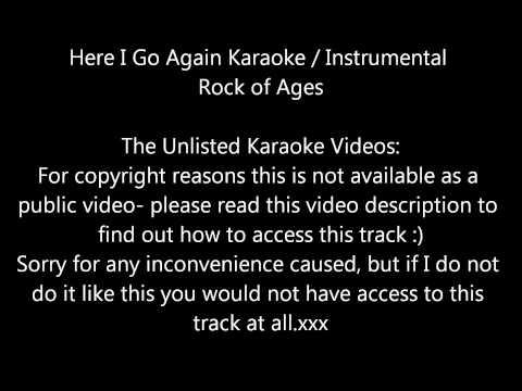 *** Here I Go Again Rock of Ages Karaoke / Instrumental