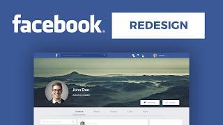 Speed Art - Facebook 2016 Redesign