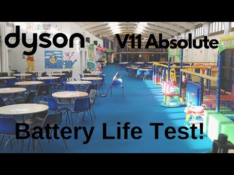 Dyson V11 Absolute Cordless Vacuum - How Long Does The Battery Actually Last? BIG DEMO AND TEST!