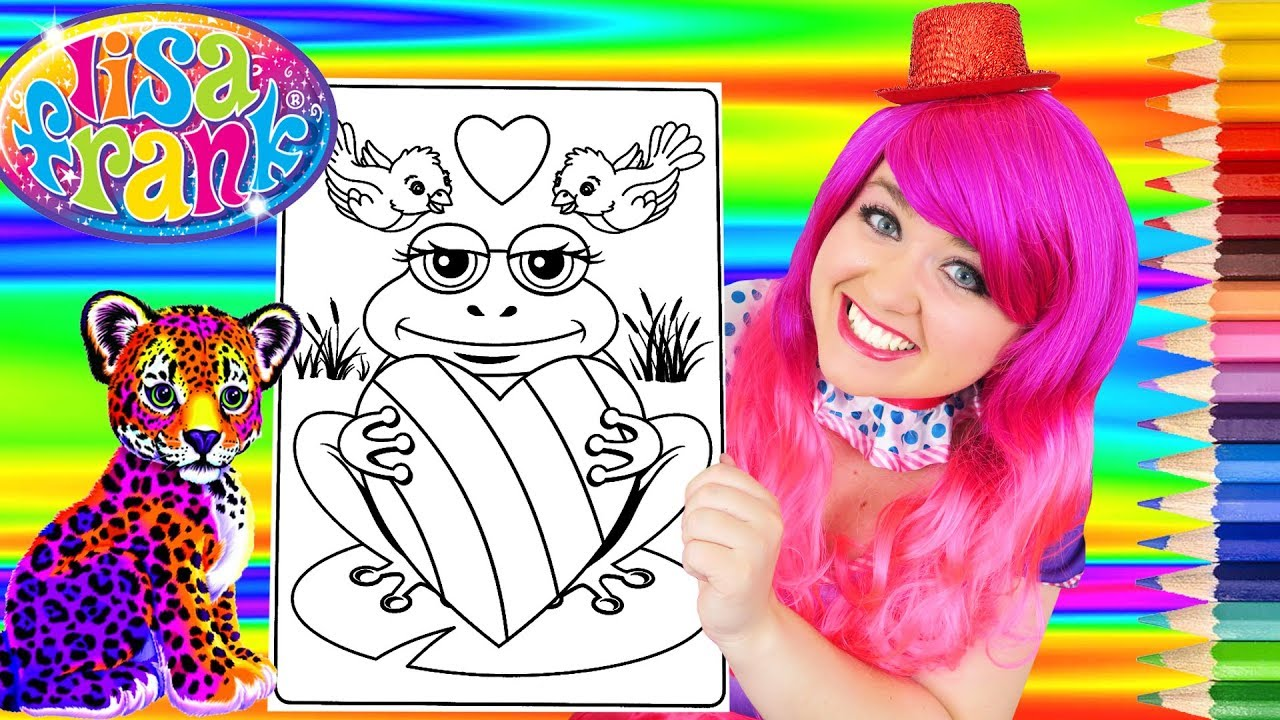 Coloring Lisa Frank Frog Rainbow Heart Coloring Page Prismacolor Pencils KiMMi THE CLOWN YouTube
