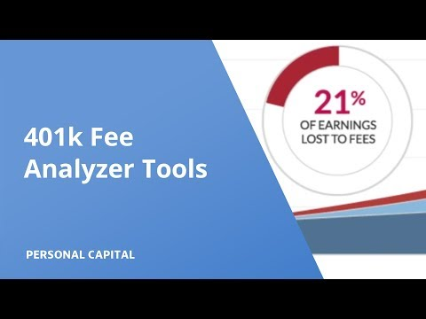 Personal Capital Investment Checkup and 401k Fee Analyzer Tools