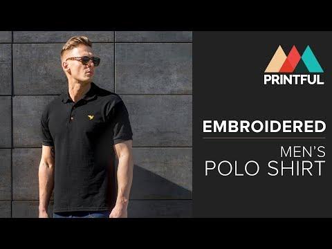 Embroidered Men's Polo Shirt: Printful Showcase