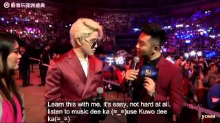 Mike learned Chinese at Ku Music Asian Awards