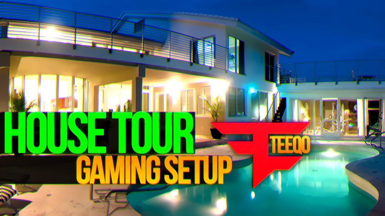 Faze teeqo house tour gaming setup youtube for Video home tours