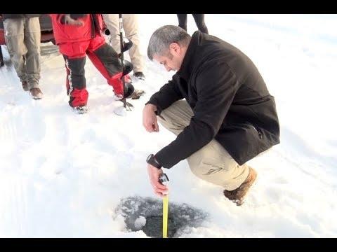 Brainerd Jaycees Ice Fishing Extravaganza Passes Ice Thickness Check