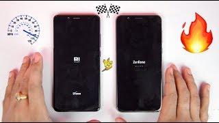 6GB Zenfone Max Pro M1 VS Redmi Note 5 Pro - Speedtest Comparison [AFTER OREO 8.1 UPDATE ]