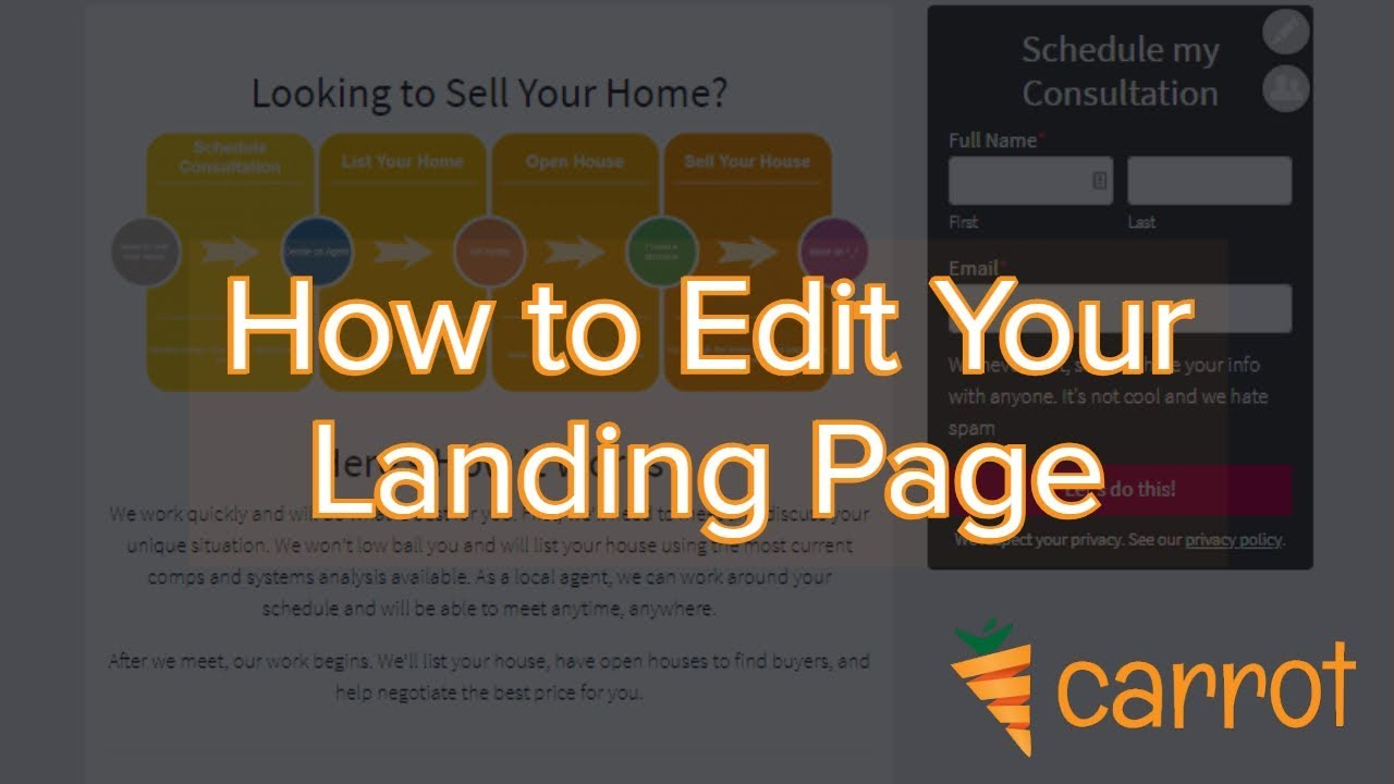 How To Edit And Create Landing Pages