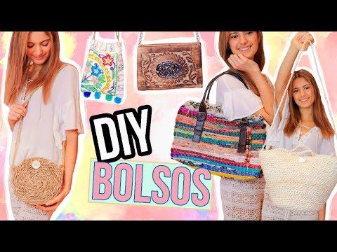 DIY - Cómo hacer 5 bolsos en 5 minutos - FÁCIL, RÁPIDO Y BARATO