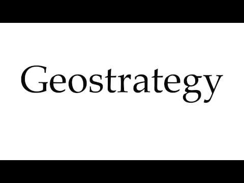 How to Pronounce Geostrategy