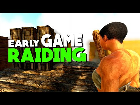 Early Game Solo Raiding and PvP! | Solo PvP | ARK: Survival Evolved | Ep 1
