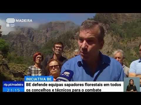 Bloco defende reflorestação e sapadores florestais | Telejornal RTP Madeira