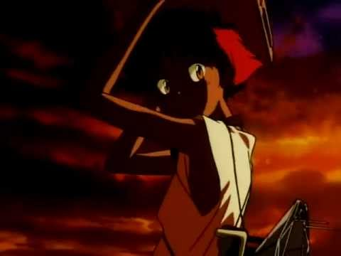 Cowboy Bebop [HD] - Ed and Ein Leave (Call Me Call Me)