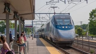 HD 150 MPH Acela Express meets Amtrak Regional