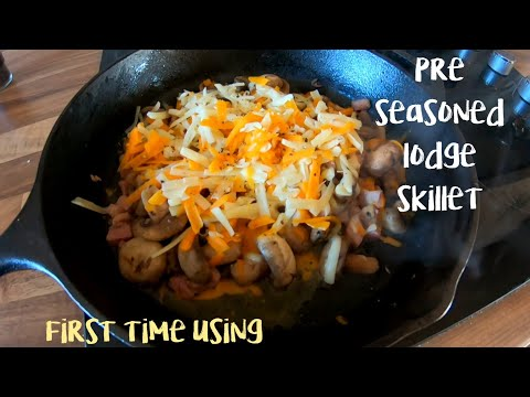 Lodge cast iron skillet first time use | pre seasoned | cast iron cooking
