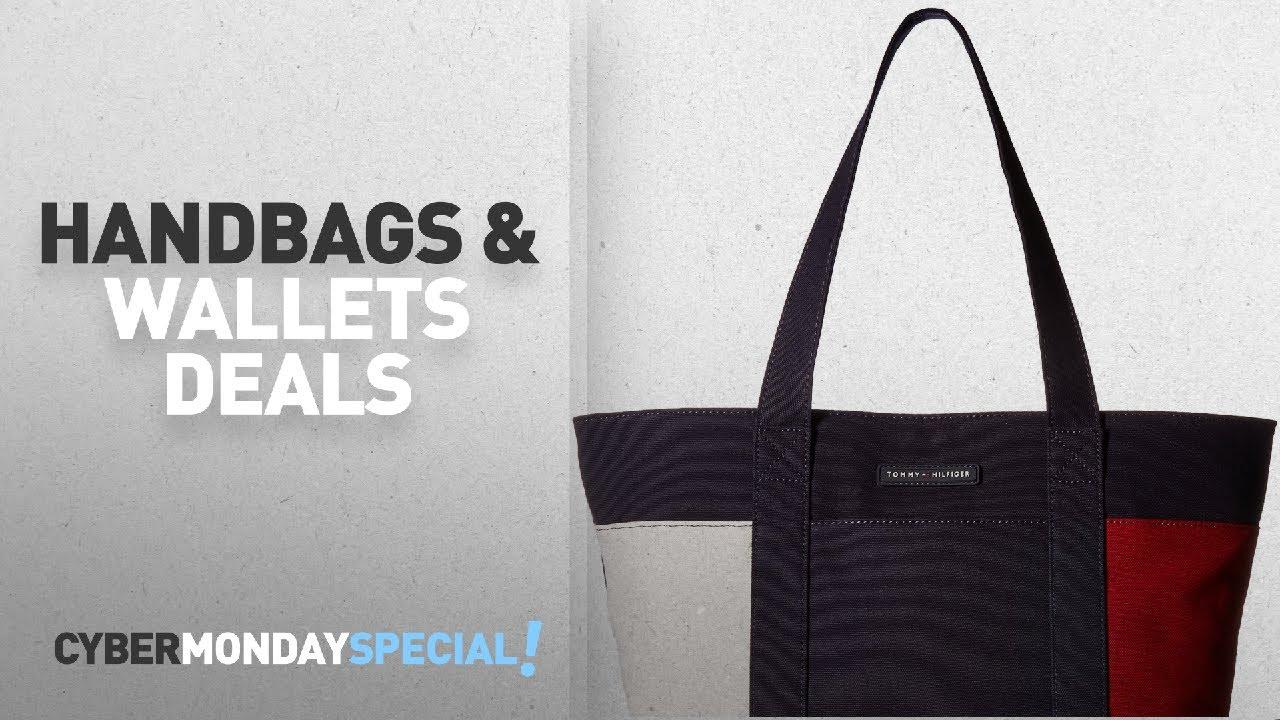 90e822f439 Top Cyber Monday Handbags & Wallets Deals: Tommy Hilfiger Th Flag ...