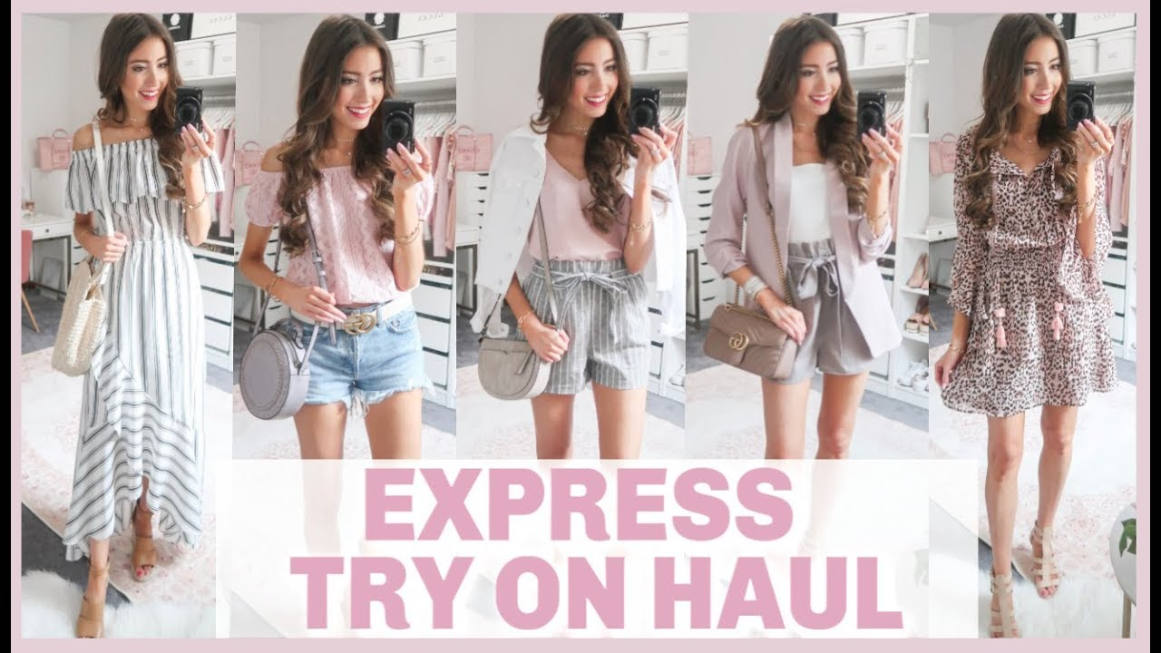HUGE EXPRESS TRY ON CLOTHING HAUL | SPRING + SUMMER OUTFIT IDEAS | SUMMER HAUL 2019 3