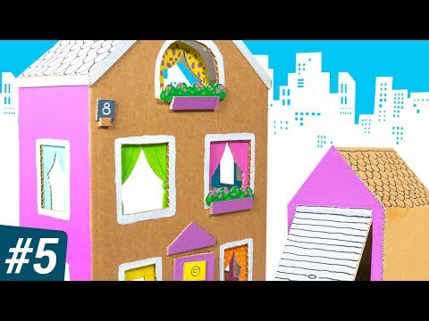 Box City #5: The Cardboard House | DIY Craft Ideas for Kids