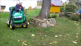 """John Deere L120 Lawn Tractor 48"""" Deck w/ Bagger Sperber SC350 & Powerflow"""