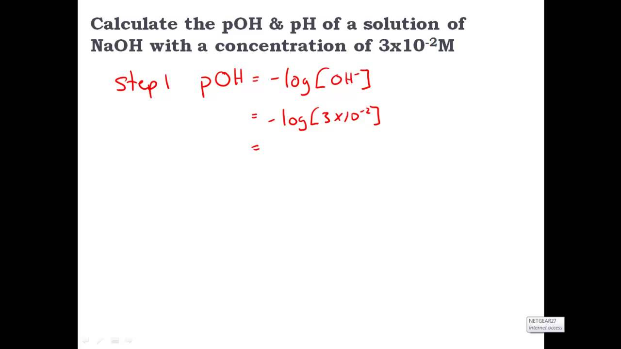 Calculating pH pOH H OH Acids Bases CLEAR SIMPLE – Ph Poh Worksheet