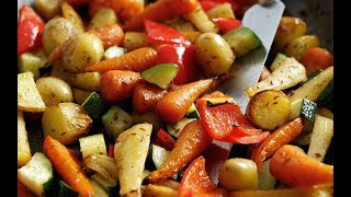 Roasted Vegetables | How to Make Roasted Vegetables | Homemade Roasted Vegetables