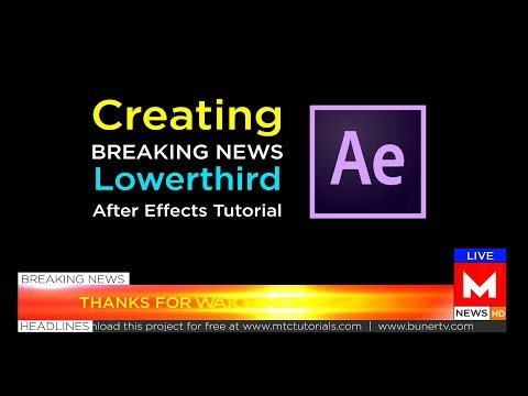 How To Make Lowerthird | Adobe After Effects Tutorial
