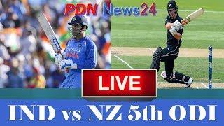 Live: IND Vs NZ 5th ODI | Live Scores | 2019 Series | India vs New Zealand live cricket .