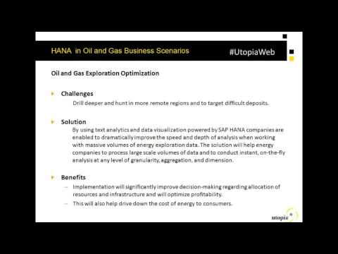 SAP HANA in the Oil & Gas Industry