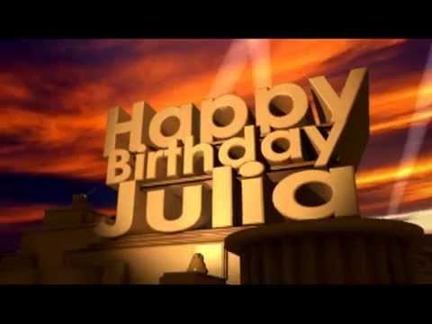 Happy birthday julia youtube