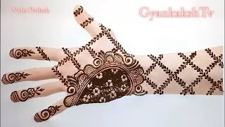 Simple Mehndi Design for Beginners, Mehndi designs for hands ,Henna mehndi for hands by Neha Pathak