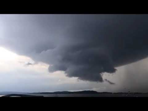 Video shows strong, rotating storm in east Alabama