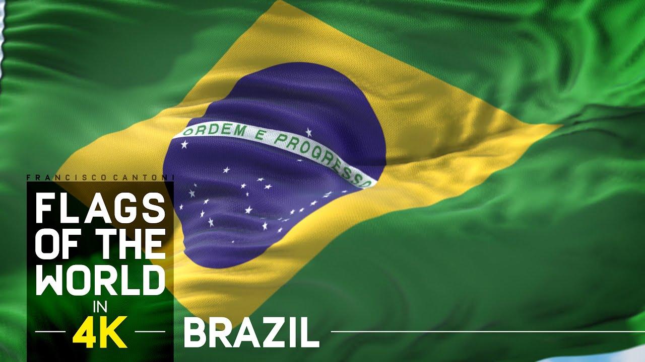 Brasil Bandeira E Hino Nacional Em 4K YouTube