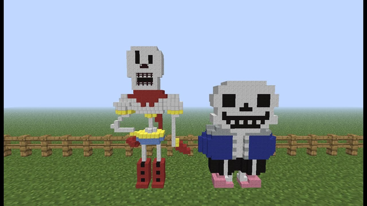 how to build sans in minecraft
