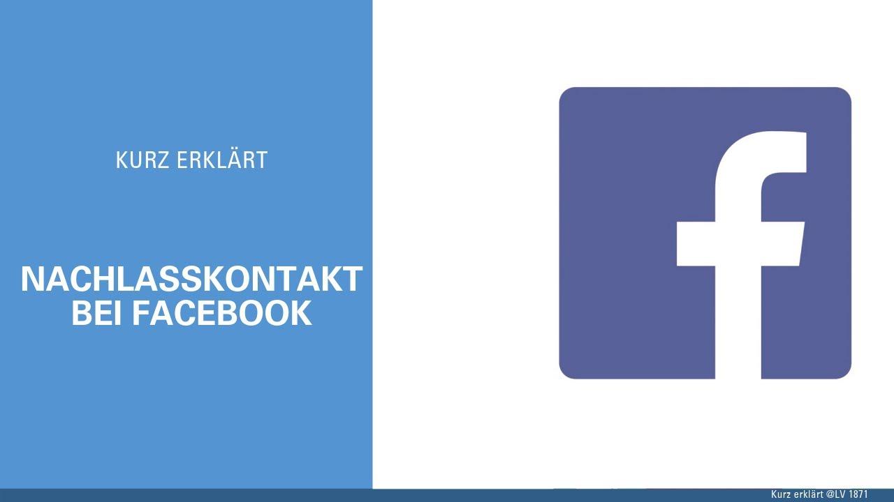 Facebook Nachlasskontakt Einrichten