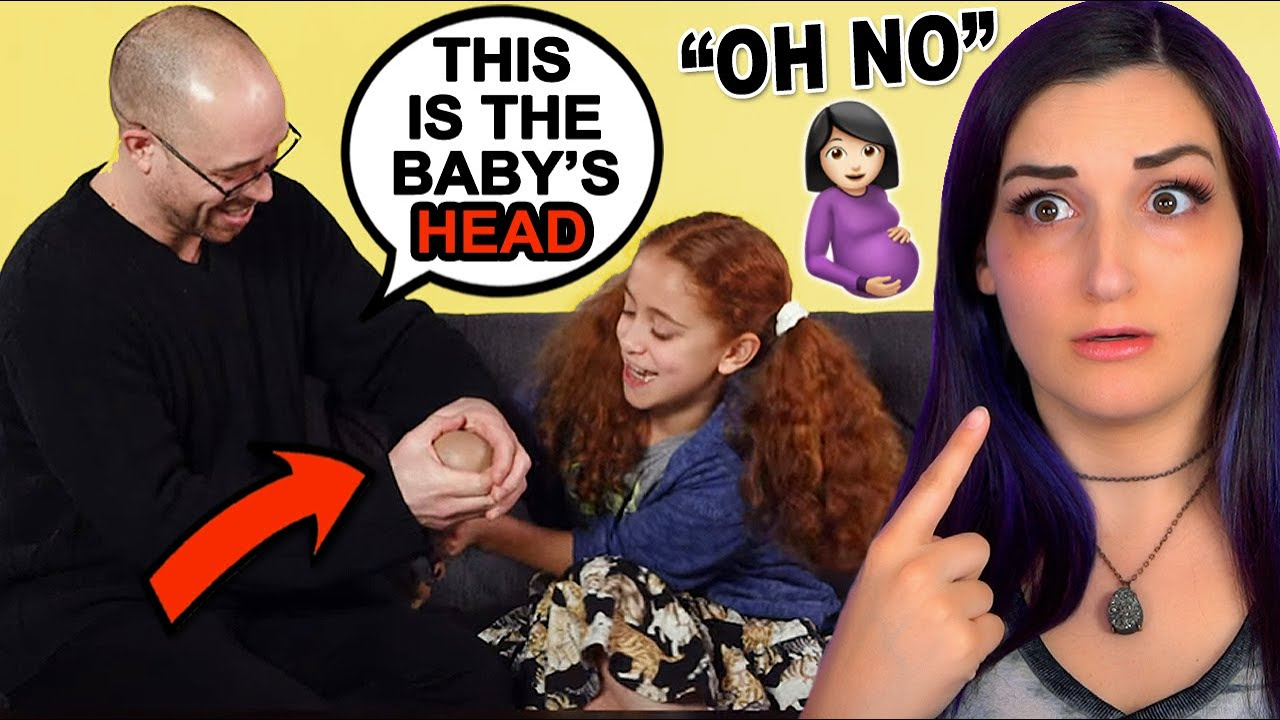 Pregnant Woman Reacts to Explaining Childbirth to Kids