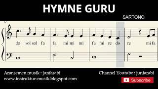 not balok hymne guru - lagu wajib nasional - doremi / solmisasi