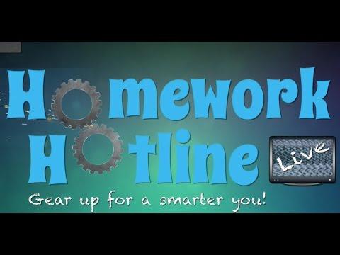 Hotline for homework help right now