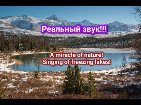 Пение замерзающих озёр! С РЕАЛЬНЫМ ЗВУКОМ! (сделайте звук погромче!)