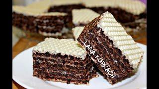 БЕЗ ВЫПЕЧКИ!Вкус этого торта сводит с ума!ВАФЕЛЬНЫЙ ТОРТ С ШОКОЛАДНЫМ КРЕМОМ