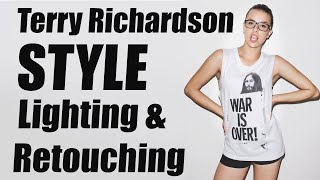 Terry Richardson Style Lighting & Retouching + How to Remove Glare from Glasses in Photoshop