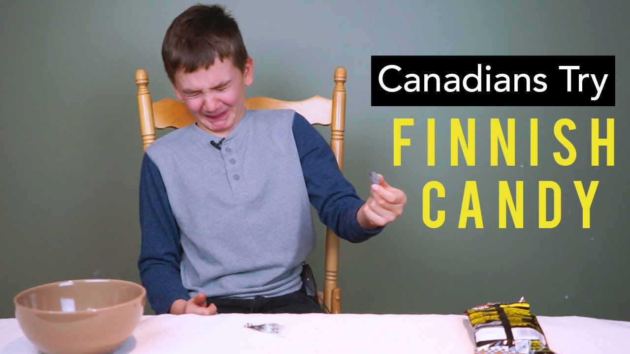 canadian kids try finnish
