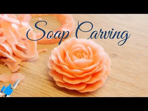SOAP CARVING ART| Tutorial Model # 2 | Handmade soap flower thumbnail