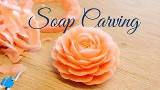 SOAP CARVING ART| Tutorial Model # 2 | Handmade soap flower
