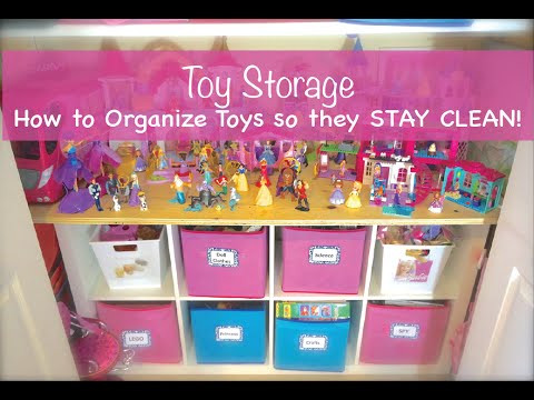 How to organize toys so they stay clean! - YouTube