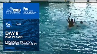 LIVE 🔴 | Water Polo - Day 8 (KSA - CAN) - 4th FINA World Men's Youth Water Polo Championships