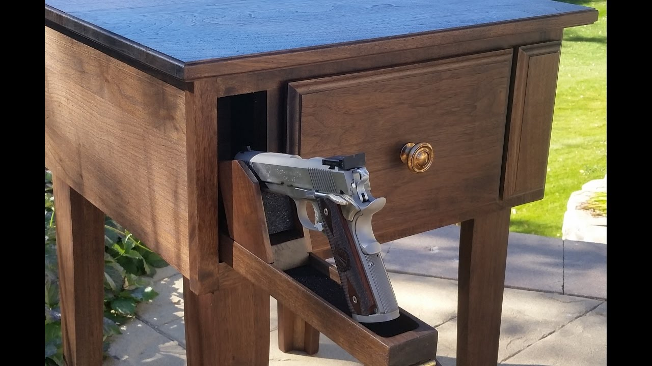 Hideaway Kitchen Table Glass Subway Tile Backsplash Gun Concealment Furniture: End With Hidden And ...