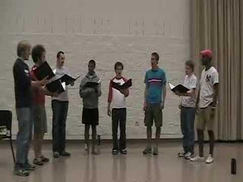 Farther Along octet sings