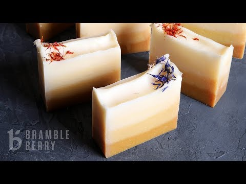 Anne-Marie Makes Turmeric Ombre Cold Process Soap - YouTube