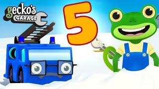 5 Trucks Songs|Gecko's Garage|Truck Cartoon For Kids|Learning Videos For Toddlers|Nursery Rhymes