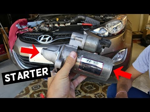 HOW TO REPLACE STARTER ON HYUNDAI ELANTRA