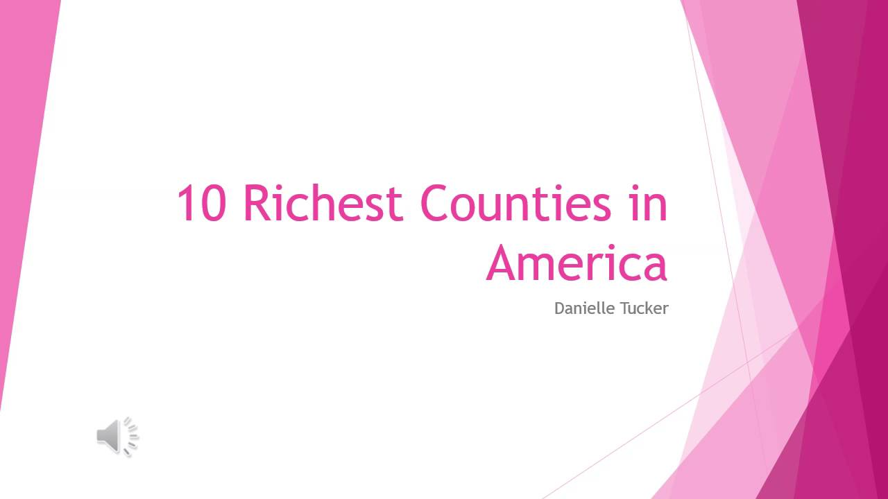 Richest Counties In America YouTube - Wealthiest counties in usa